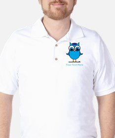 Personalized Blue Owl T-Shirt