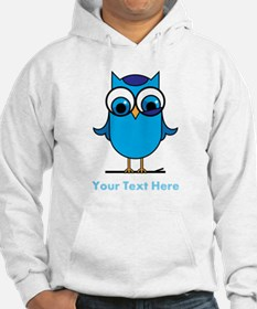 Personalized Blue Owl Hoodie