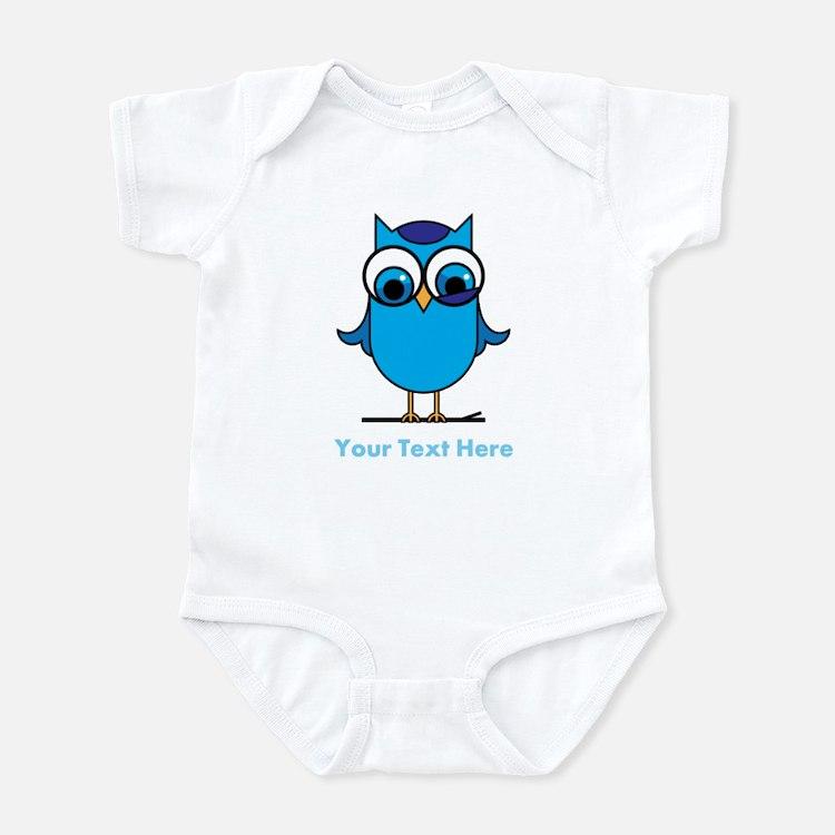 Personalized Blue Owl Infant Bodysuit