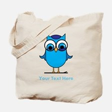 Personalized Blue Owl Tote Bag