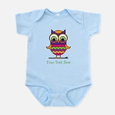Customizable Whimsical Owl Infant Bodysuit
