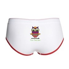 Customizable Whimsical Owl Women's Boy Brief