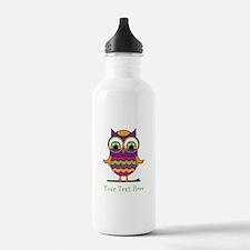 Customizable Whimsical Owl Water Bottle