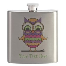 Customizable Whimsical Owl Flask