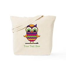 Customizable Whimsical Owl Tote Bag