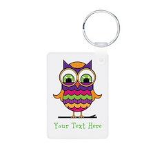 Customizable Whimsical Owl Keychains