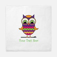 Customizable Whimsical Owl Queen Duvet