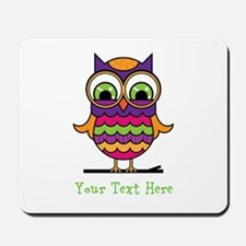 Customizable Whimsical Owl Mousepad