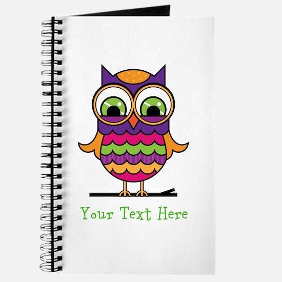 Customizable Whimsical Owl Journal