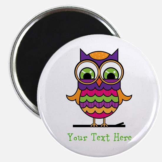 Customizable Whimsical Owl Magnet