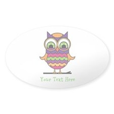 Customizable Whimsical Owl Decal