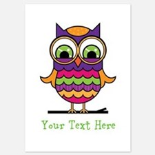 Customizable Whimsical Owl Invitations
