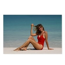 Girl in Red Swimsuit  Postcards (Package of 8)