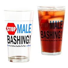 Stop Male Bashing Drinking Glass