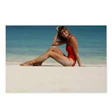 Girl in Red Swimsuit 2  Postcards (Package of 8)