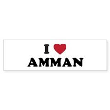 I Love Amman Bumper Sticker