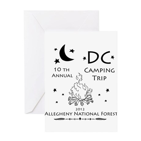 DC Camping 10th annua Greeting Card