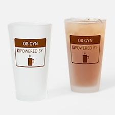 OB GYN Powered by Coffee Drinking Glass