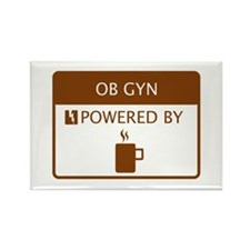 OB GYN Powered by Coffee Rectangle Magnet