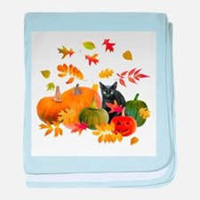 Black Cat Pumpkins baby blanket