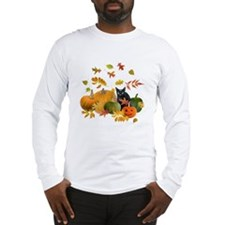 Black Cat Pumpkins Long Sleeve T-Shirt