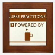 Nurse Practitioner Powered by Coffee Framed Tile