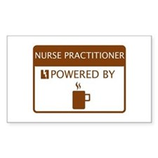 Nurse Practitioner Powered by Coffee Decal