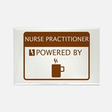 Nurse Practitioner Powered by Coffee Rectangle Mag