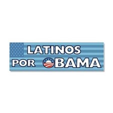 Latinos Por Obama Car Magnet 10 x 3