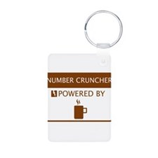 Number Cruncher Powered by Coffee Keychains