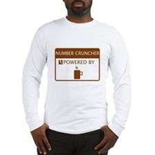 Number Cruncher Powered by Coffee Long Sleeve T-Sh
