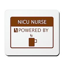 NICU Nurse Powered by Coffee Mousepad