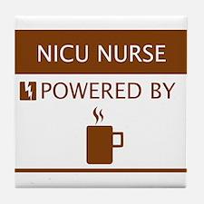 NICU Nurse Powered by Coffee Tile Coaster