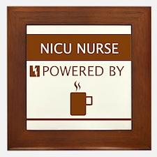 NICU Nurse Powered by Coffee Framed Tile
