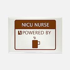 NICU Nurse Powered by Coffee Rectangle Magnet