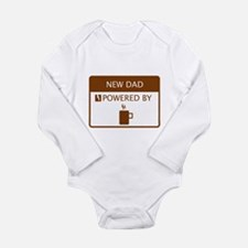 New Dad Powered by Coffee Long Sleeve Infant Bodys
