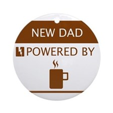New Dad Powered by Coffee Ornament (Round)