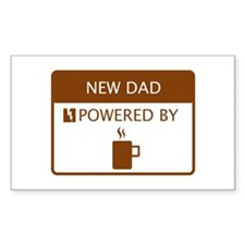 New Dad Powered by Coffee Decal