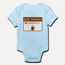 Music Therapist Powered by Coffee Infant Bodysuit