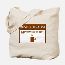 Music Therapist Powered by Coffee Tote Bag