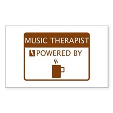 Music Therapist Powered by Coffee Decal