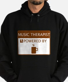 Music Therapist Powered by Coffee Hoodie (dark)