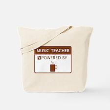 Music Teacher Powered by Coffee Tote Bag