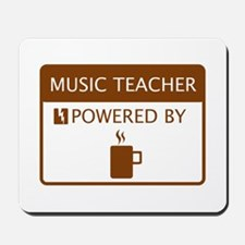 Music Teacher Powered by Coffee Mousepad