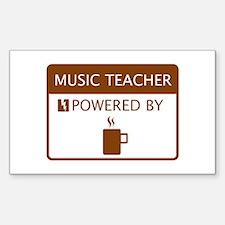 Music Teacher Powered by Coffee Decal