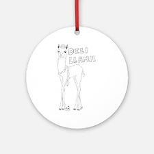 Deli Llama Ornament (Round)
