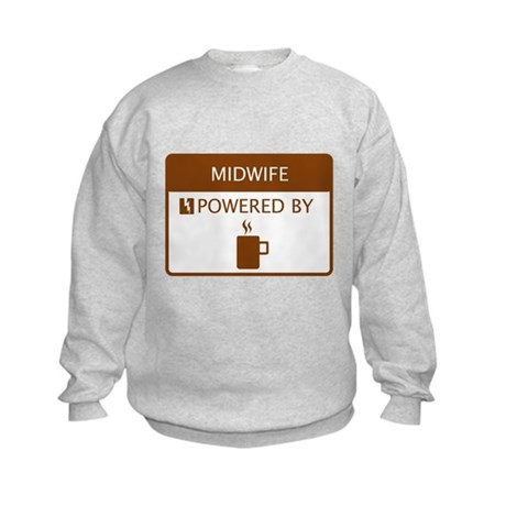Midwife Powered by Coffee Kids Sweatshirt
