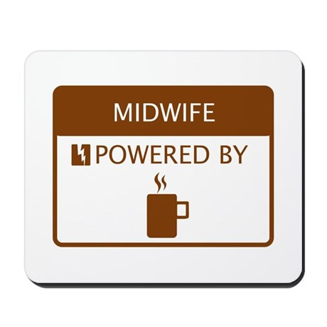 Midwife Powered by Coffee Mousepad