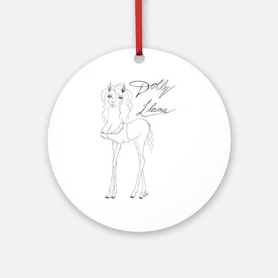 Dolly Llama Ornament (Round)