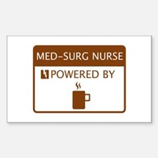 Med-Surg Nurse Powered by Coffee Decal